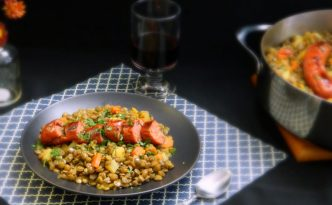 Lentils & Spanish Chorizo Recipe | Five Senses Palate