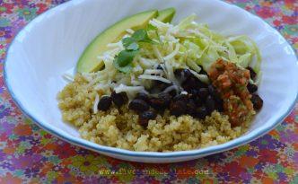 Quinoa Bowl with Black Beans & Salsa Recipe | Five Senses Palate