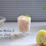 Pepino Melon & Chia Seeds Granita Recipe | Five Senses Palate