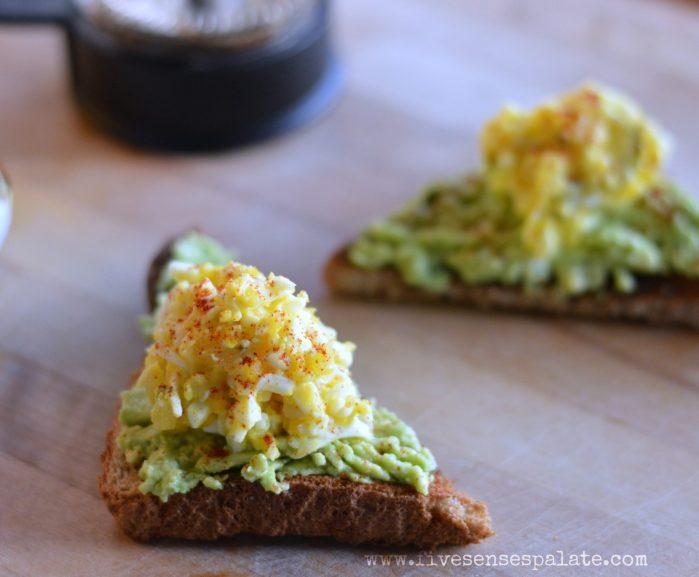 Avocado Toast with Shredded Egg Salad Recipe