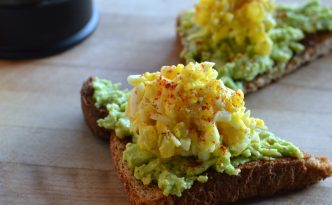 Avocado Toast with Shredded Egg Salad Recipe
