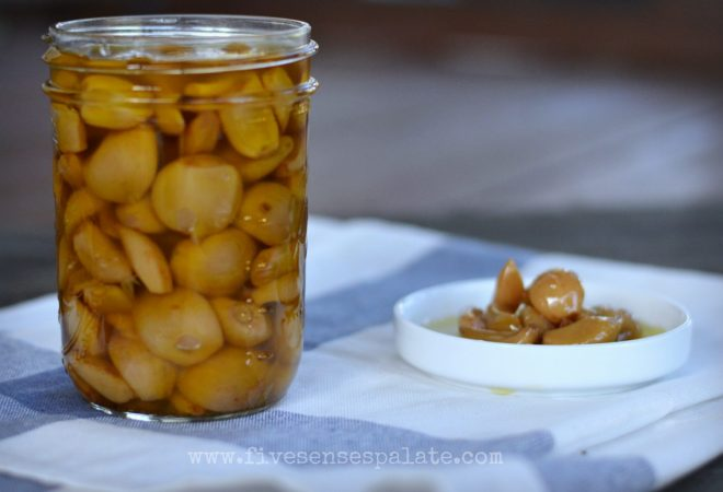 Garlic Confit in a Crockpot | Five Senses Palate