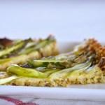 Asparagus Tart with Quinoa Crust Recipe | Five Senses Palate