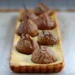 Seckel Pear & Almond Custard Tart
