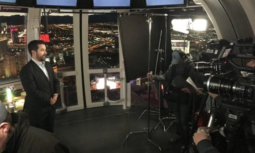 Video production on the famous High Roller at the Linq.