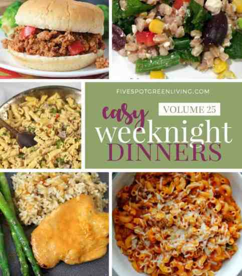 easy weeknight dinners meal plan volume 25