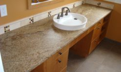 granite sink surround tan seattle