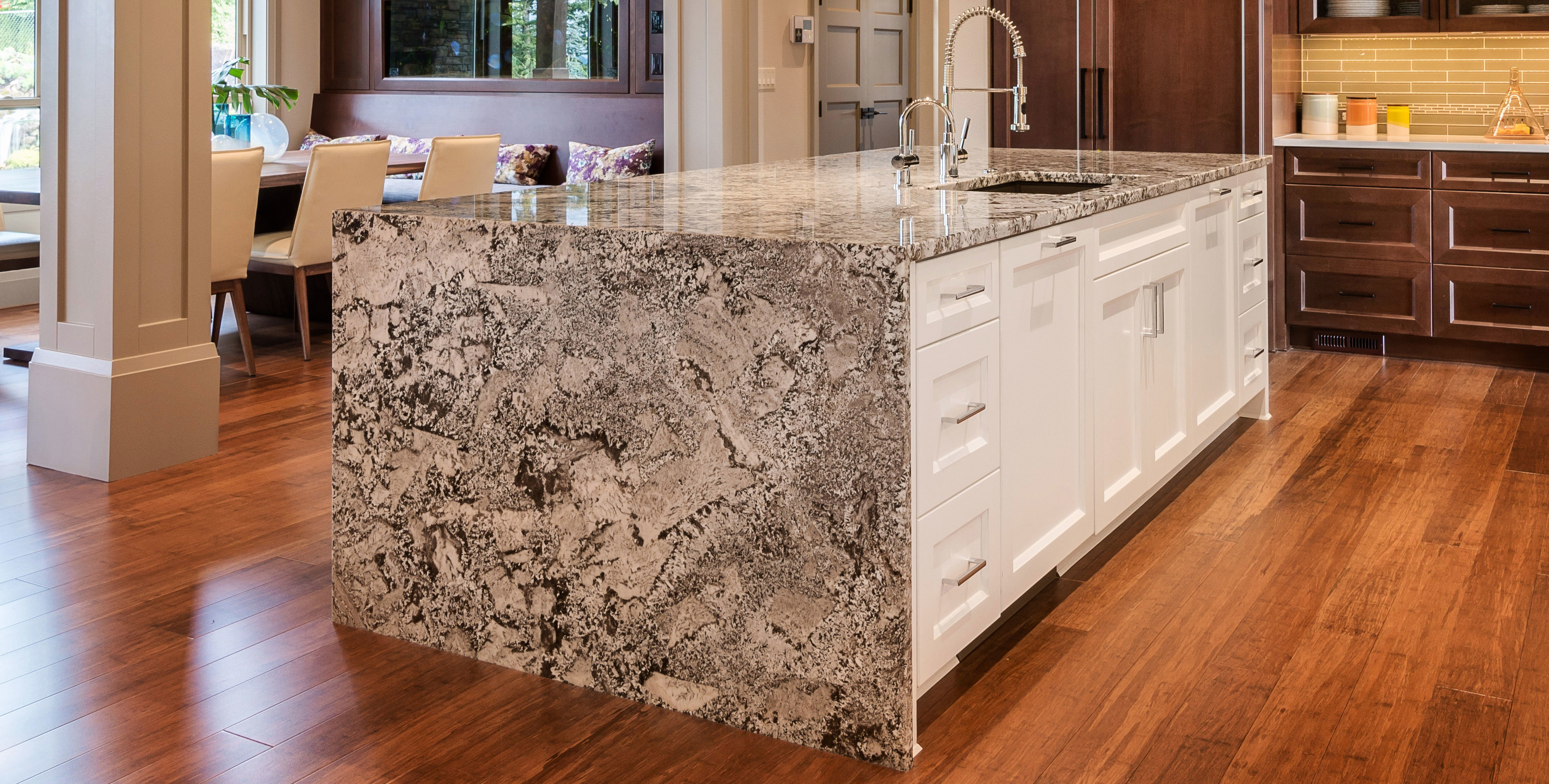 granite slab beautiful kirkland kitchen