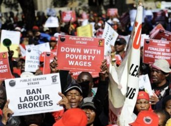 South-africa-strike