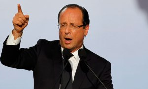 Francois Hollande campaign meeting in Toulouse