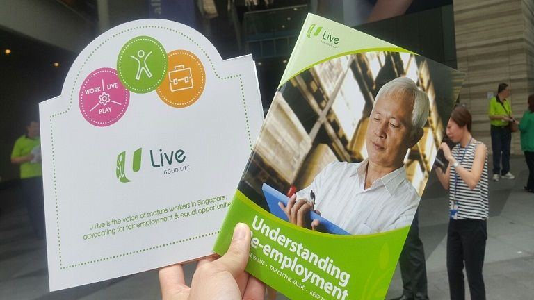 "NTUC U Live's guidebook on ""Understanding Re-employment""."
