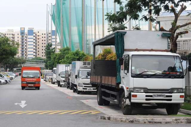 Heavy vehicle parking spaces in Singapore