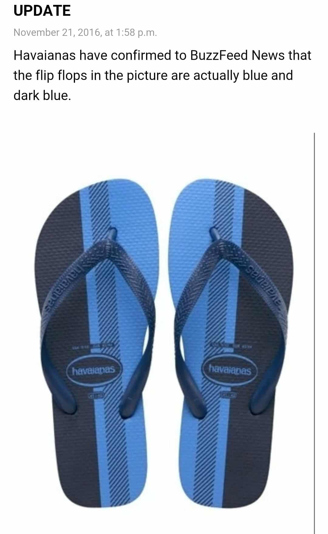 Buzzfeed Havaianas Flip-Flops colours