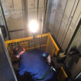 Lift technicians are safe if they are within the yellow box