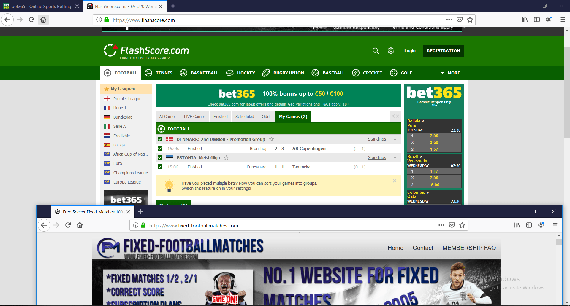 tomorrow matches and odds Archives -