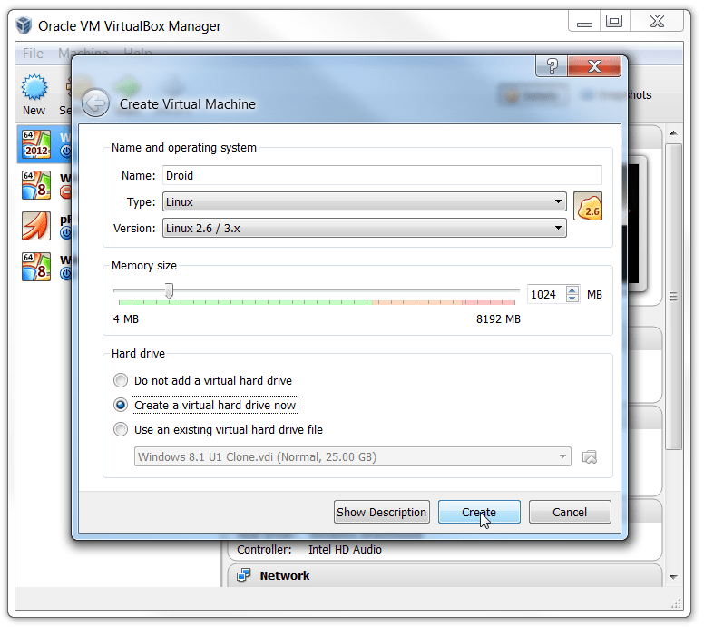 Android KitKat 4.4 in VirtualBox