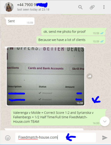 Paymant Proof from Whatsup