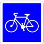 Panneau de signalisation : entrée de bande cyclable