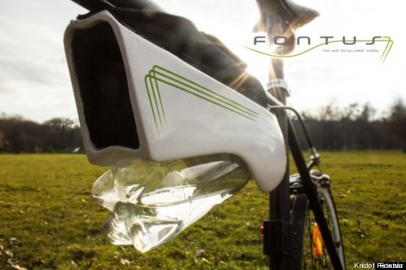 Gourde vélo, air en eau