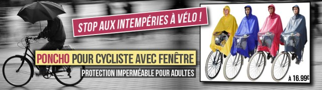 Intempéris + Poncho = Stop à la pluie