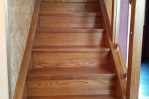 Staircase renovation after completion lights off in Doncaster