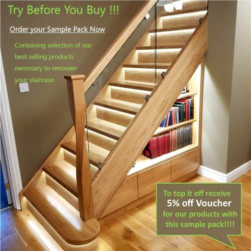 oak stairs cladding samples