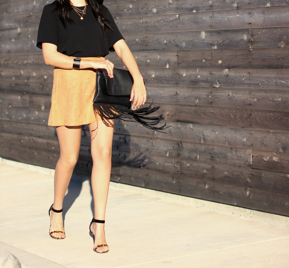 Fixin to Thrill| Austin Fashion blog: BCBG skirt by LURE
