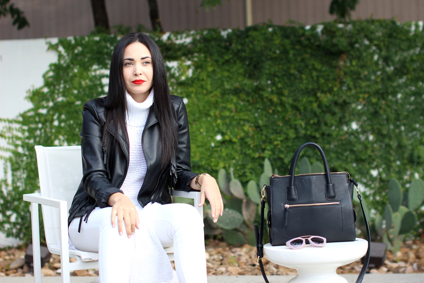FTT-EXPRESS-LEATHER-JACKET-WHITE-TURTLE-NECK-RED-LIPS