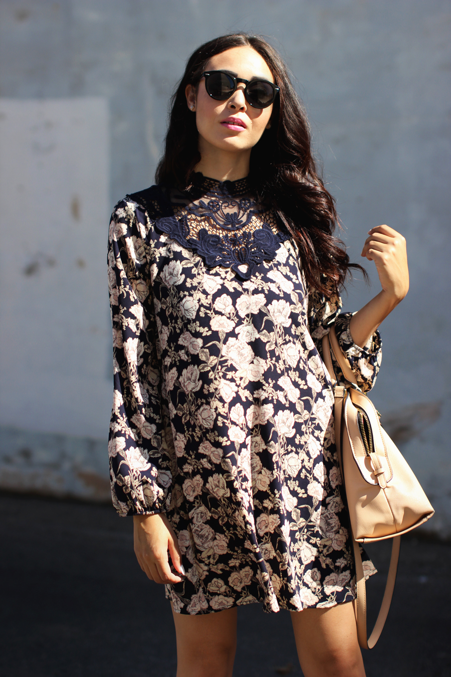 FTT-PINK-AND-SILVER-BLUE-HIGH-NECK-FLORAL-DRESS-12