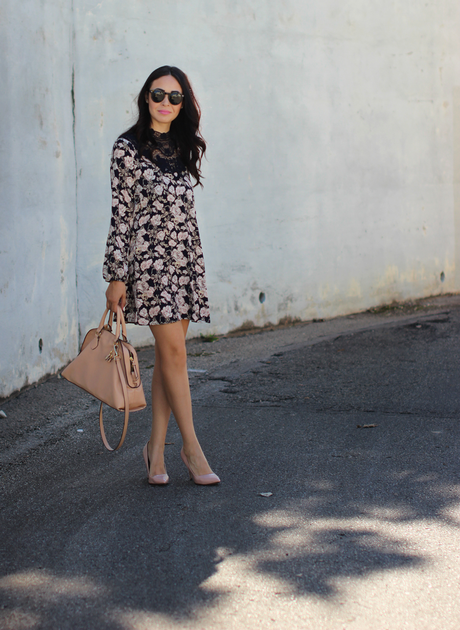 FTT-PINK-AND-SILVER-BLUE-HIGH-NECK-FLORAL-DRESS-14