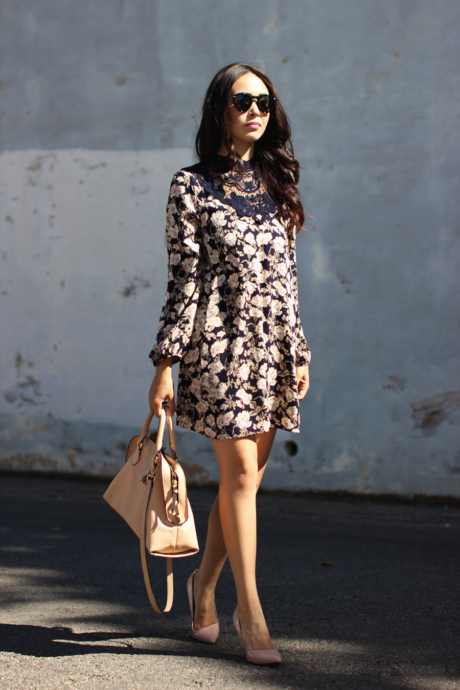 FTT-PINK-AND-SILVER-BLUE-HIGH-NECK-FLORAL-DRESS-19