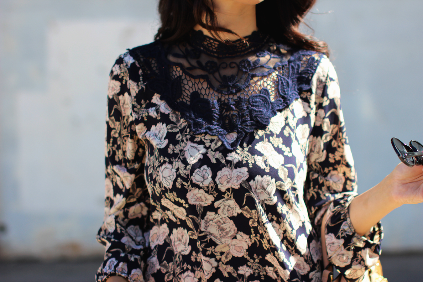FTT-PINK-AND-SILVER-BLUE-HIGH-NECK-FLORAL-DRESS-3