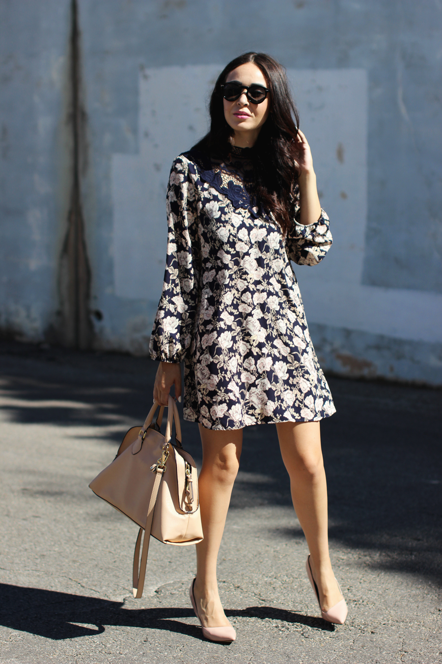 FTT-PINK-AND-SILVER-BLUE-HIGH-NECK-FLORAL-DRESS-9