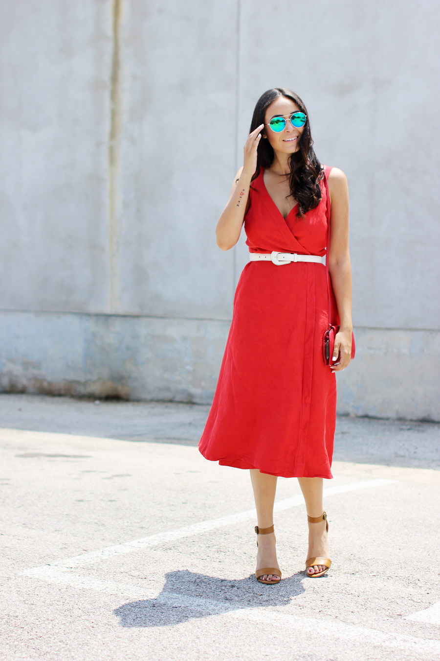 FTT-RED-WRAP-MIDI-DRESS-SUMMER-STYLE-