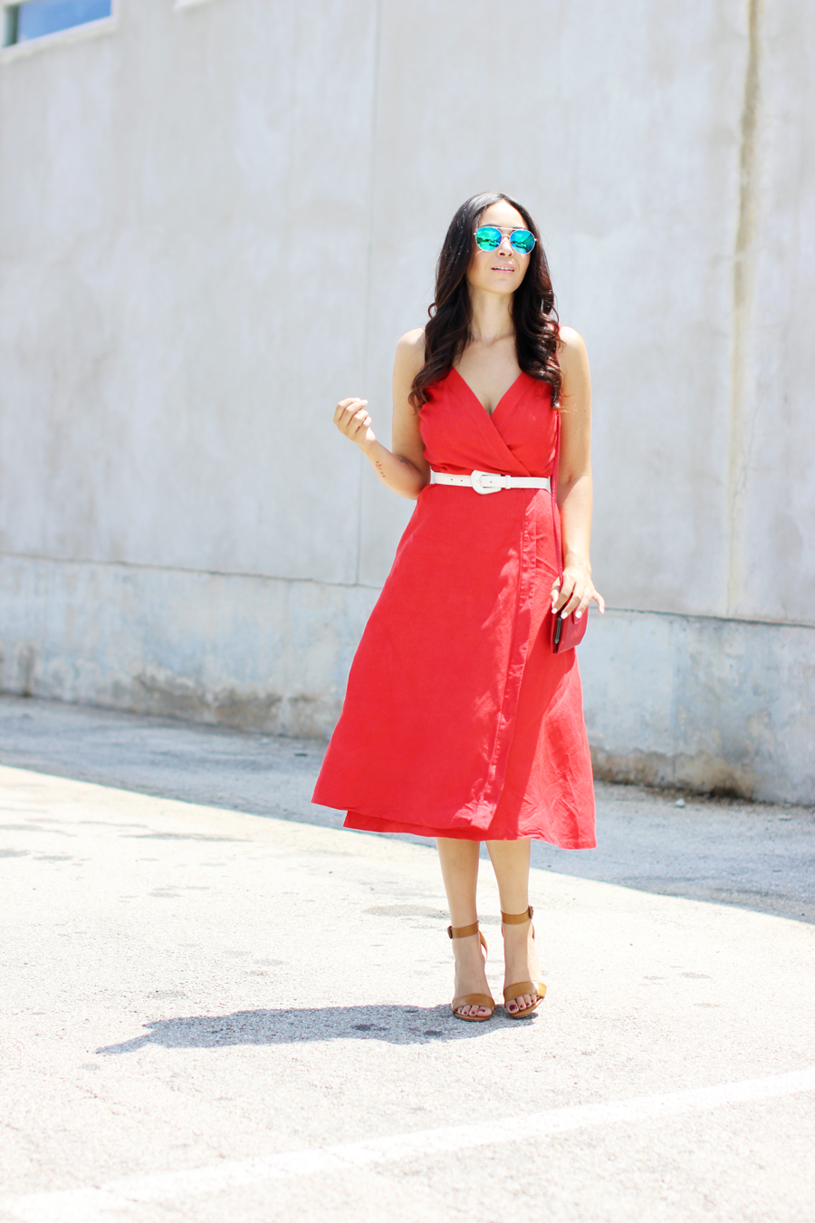 FTT-RED-WRAP-MIDI-DRESS-SUMMER-STYLE-2