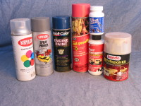 Auto body surface preparations and paints are available at most auto parts stores. Specialized auto paint stores can match your car's color if you take them a sample, typically the fuel fill cover.