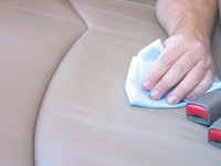 Wipe the cleaner away from the spot with soft, dry cloth. Repeat if necessary.