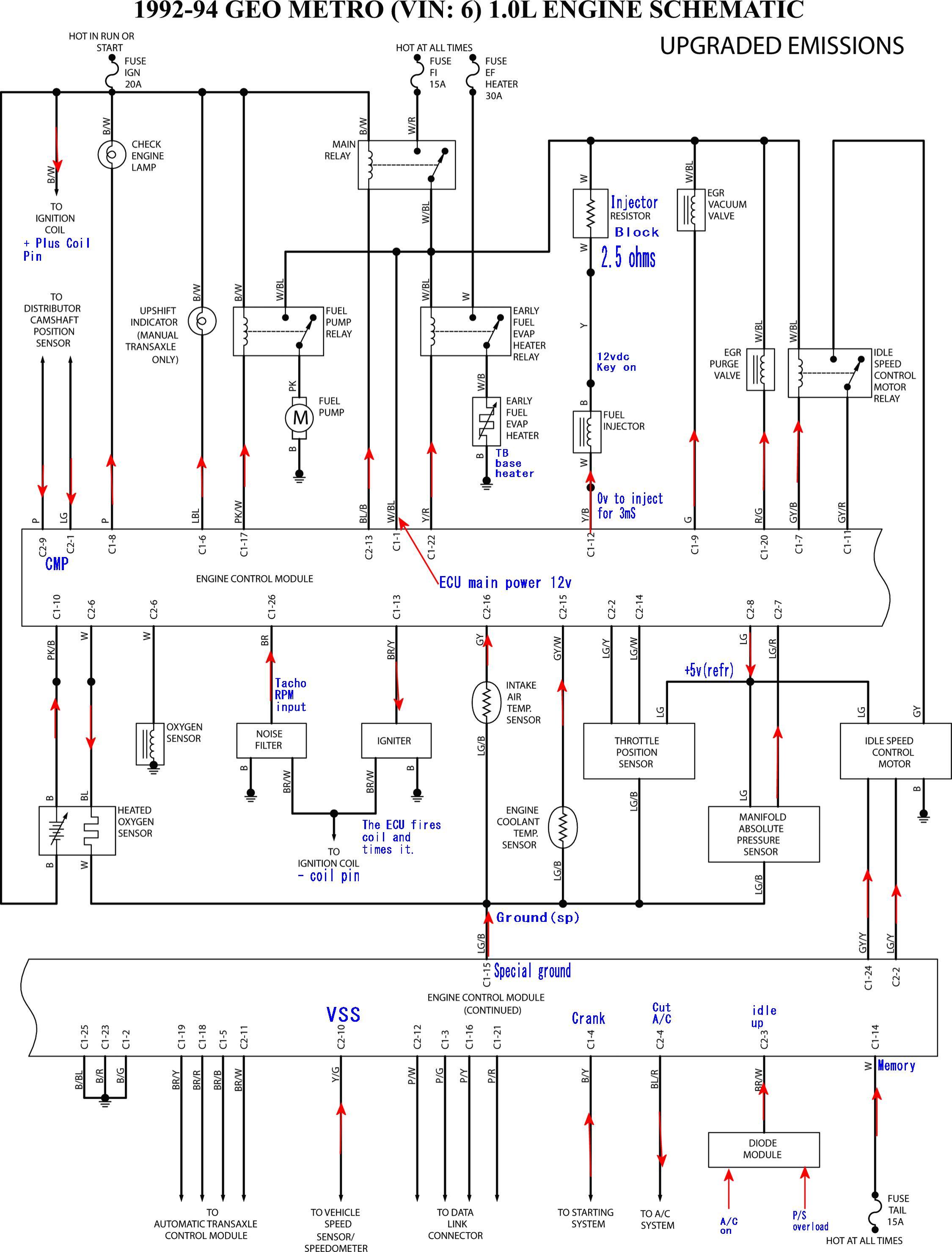 1992 Geo Metro Wiring Diagram Library
