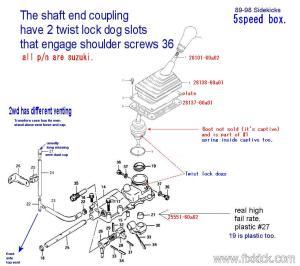 95 Sidekick 5 Speed  looking for a transmission diagram  Suzuki Forums: Suzuki Forum Site