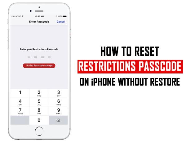reset your iPhone passcode
