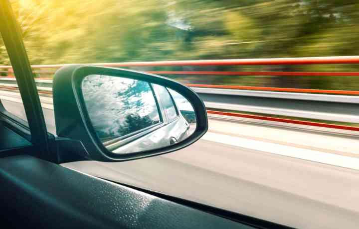 Car wing mirror glass replacement