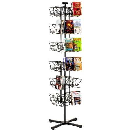 144 paperback book floor rack display spinner rack