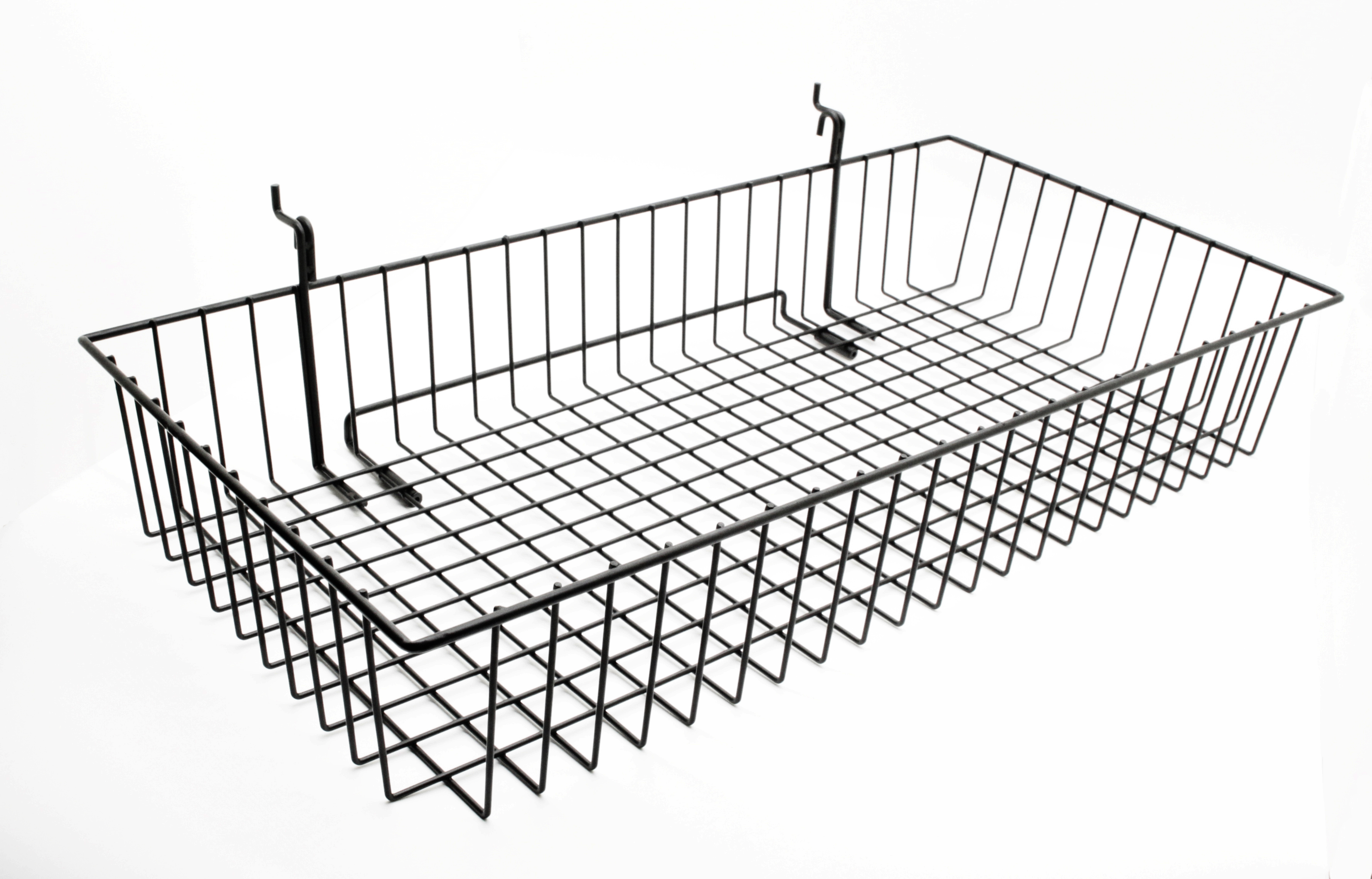 24x12 Metal Gridwall Basket Wire Holder Slatwall Hanging Basket Dump Bin