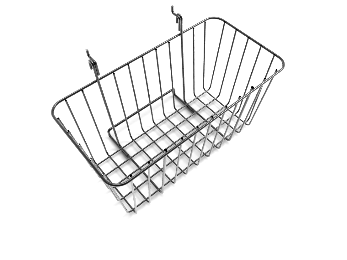12 X 6 Wire Rectangular Basket For Gridwall Or Slatwall