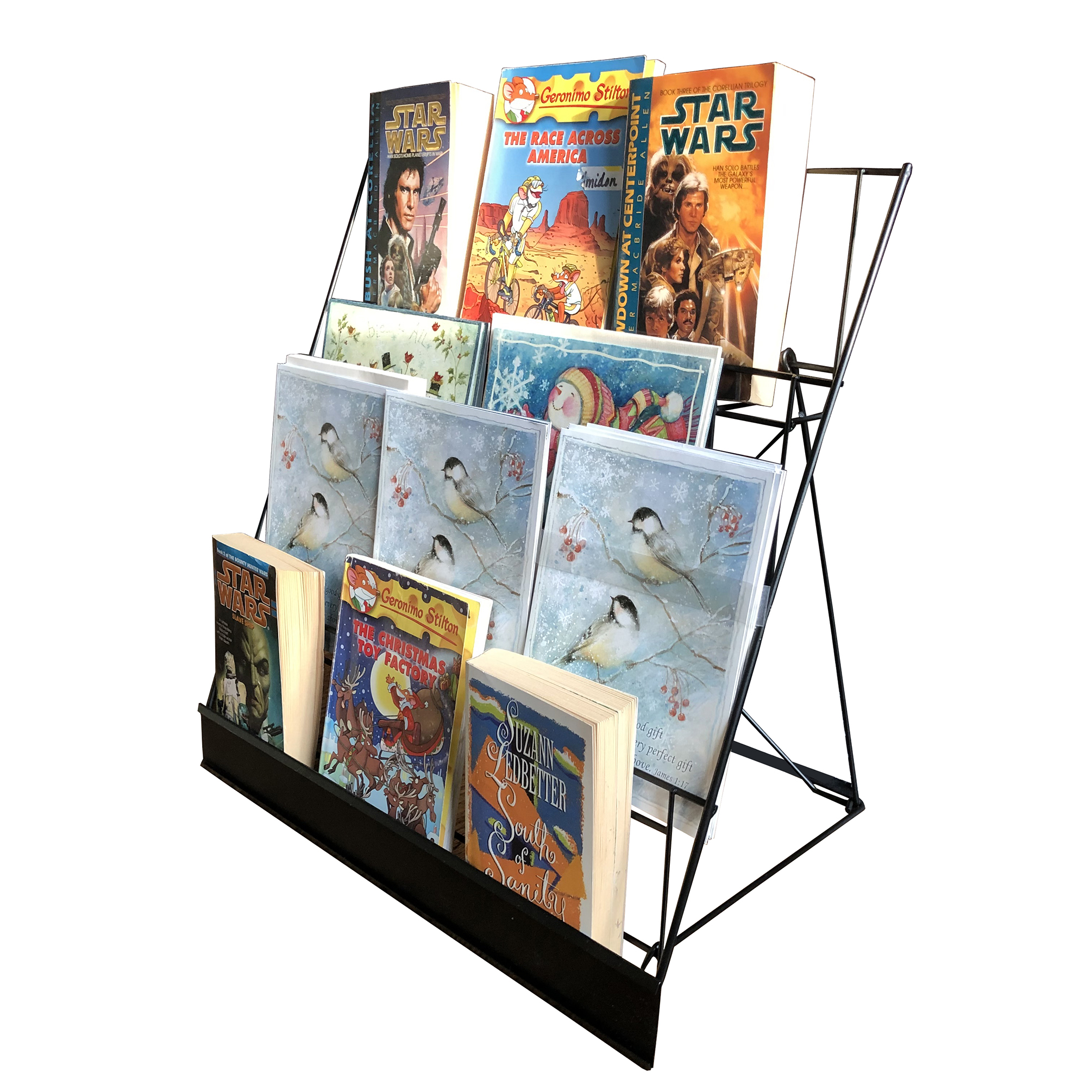 Wire Rack Brochure Rack Tabletop Cd Book Rack Display Open