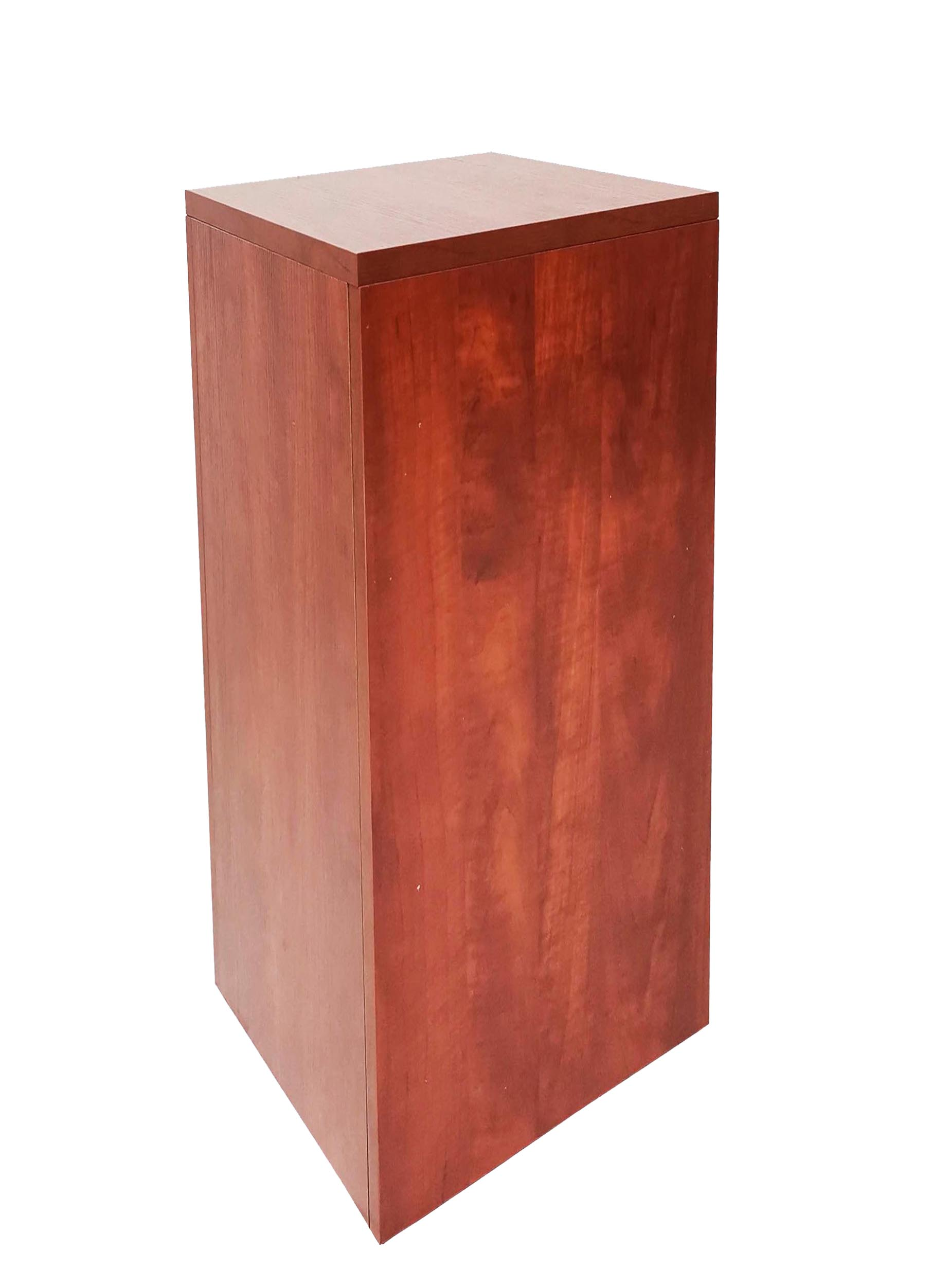 Cube Wood Pedestal Cube Display Storage Dump Cube Bin Wood