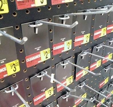 Back Tagged Forest of Hooks enforce Planogram