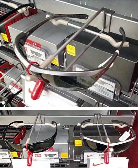 Sunglass saddle-mount bar hook
