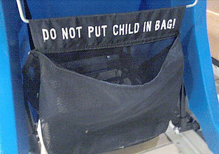 Don't-Bag-the-Baby Warning Sign
