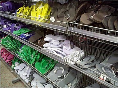 Flip Flops in Endless Basket